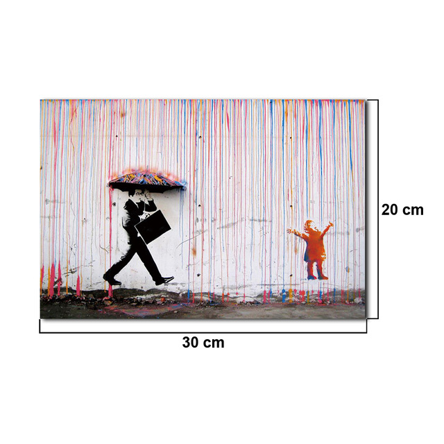 "30"" x 20"" Colorful Rain And Spray Prints Paintings Modern Canvas Wall Art Without Frames For Home Decorative Picture"