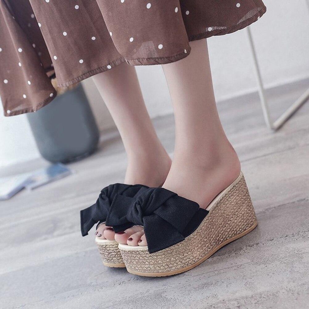 Cuñas Altos Mujer Tacones Planos De Mjlqgsupzv Verano Sandalias Zapatos TJc1lK3uF