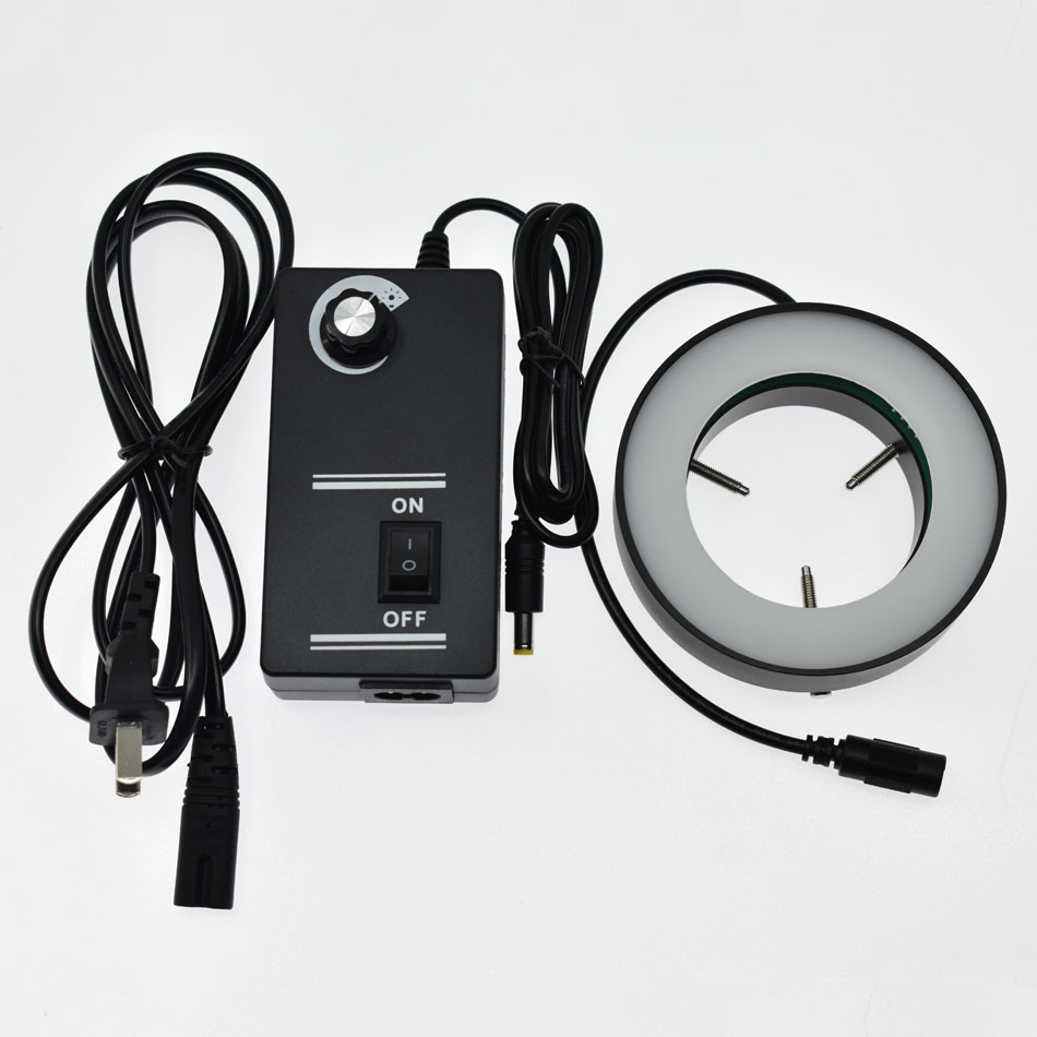 Diamètre intérieur du tableau blanc de lait 144 perle de lampe Microscope caméra LED anneau Source de lumière éliminer l'ombre pour empêcher la réflexion