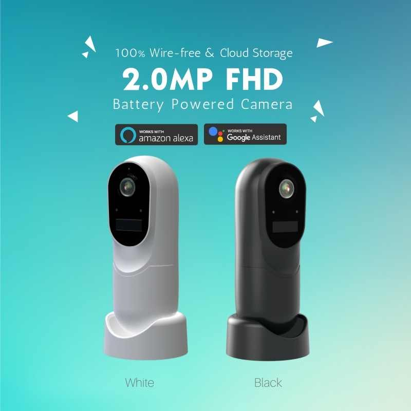Smart WIFI PTZ FHD IP Cloud Camera with Alexa Voice Control Auto
