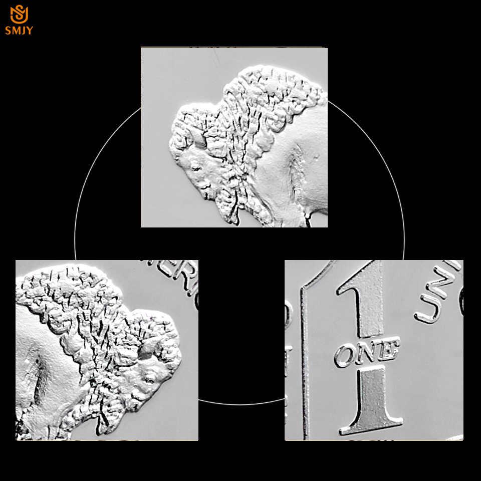 Ince Almanya Gümüş. 999 Nane 1 Troy Ons Buffalo Avrupa Gümüş Kaplama Metal Külçe Çubuğu Kopya Paraları Koleksiyonu
