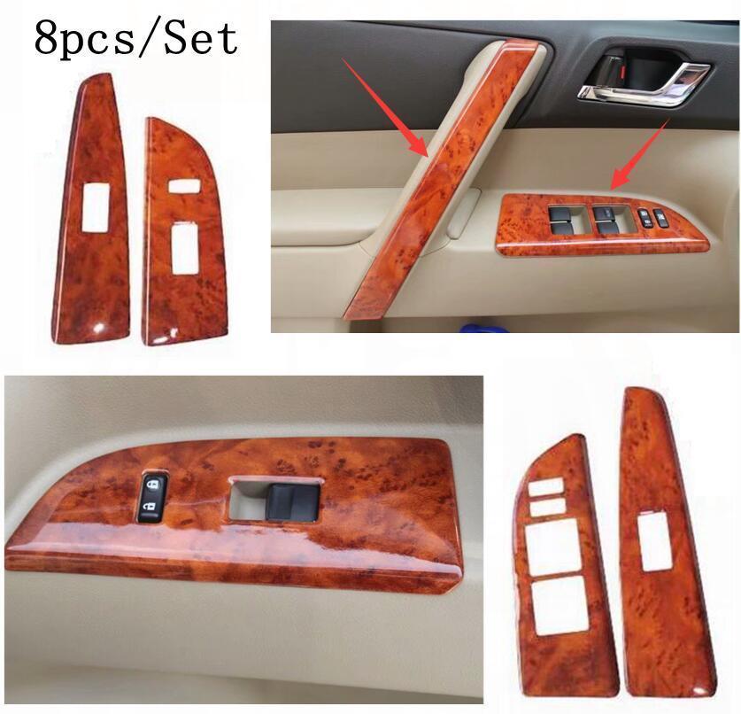 ABS Car Dashboard Decorative Cover Frame Trim For Toyota Highlander 2015-2018