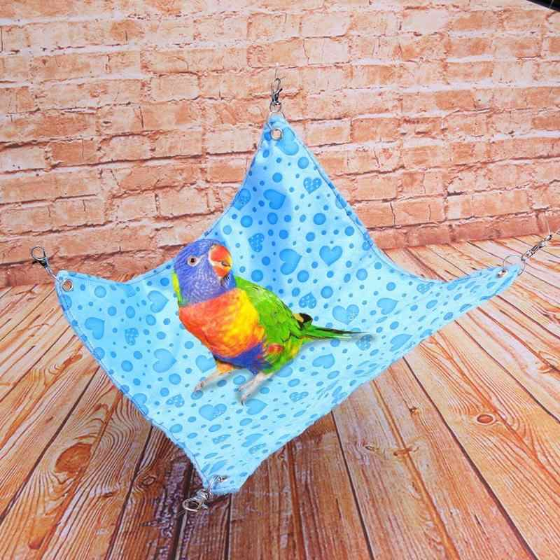Bird Parrot Plush Hammock Cage Snuggle Berber Fleece Hut Tent Bed Bunk Toy Hanging Cave Soft Sweet Bird Nest For Parrots