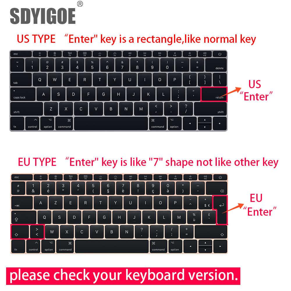 Pour Apple Macbook pro13/11Air 13/15 rétina12 pouces toutes les séries silicone clavier housse transparent clair protecteur film ue/US