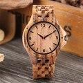 Herren Uhr Quarz Holz Armreif Armbanduhr Luxury Business Mann Uhr Natürliche Niet Holz Uhren Geschenke für Männer relogio masculino