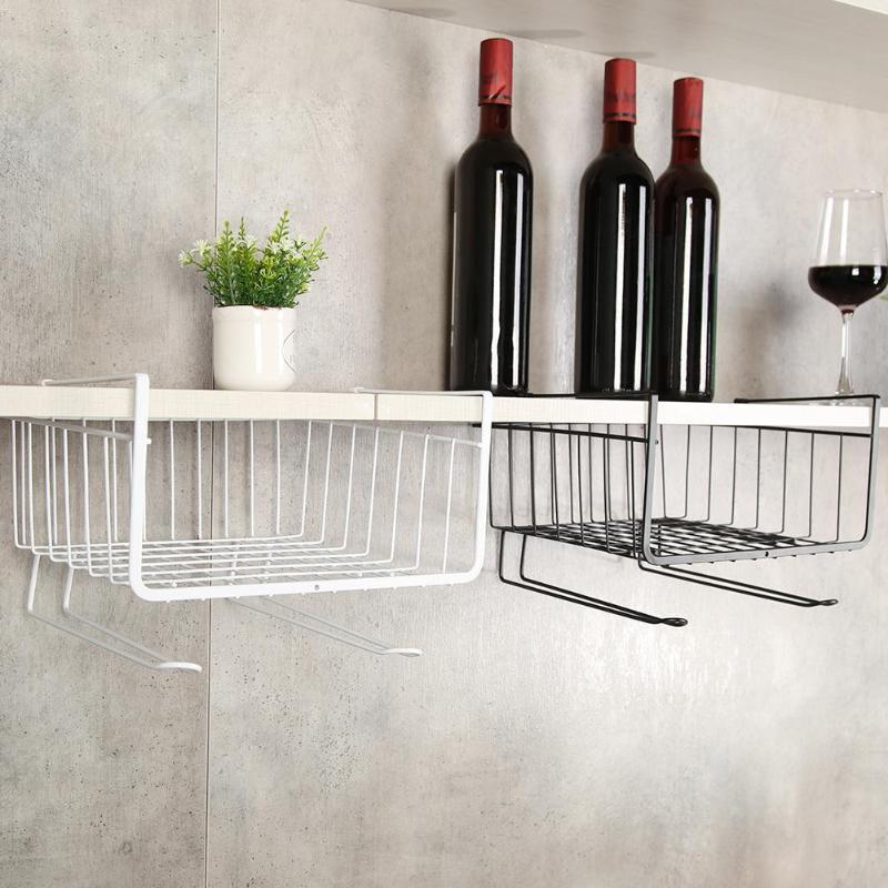 Kitchen Bathroom Cupboard Cabinet Compartment Hanging Holder Storage Rack Kitchen Storage Organization