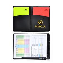 Football Red And Yellow Cards Record Red Card Yellow Card Referee Tool Equipment With Leather Case And Ballpoint Pen box for football match referee red and yellow cards