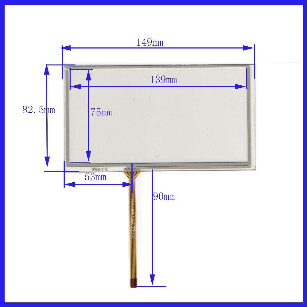 ZhiYuSun  For JVC KW-NT1 Compatible 149mm*83mm 6inch 4 Line Touch Screen Panel Sensor Glass Compabible Send Extended Line