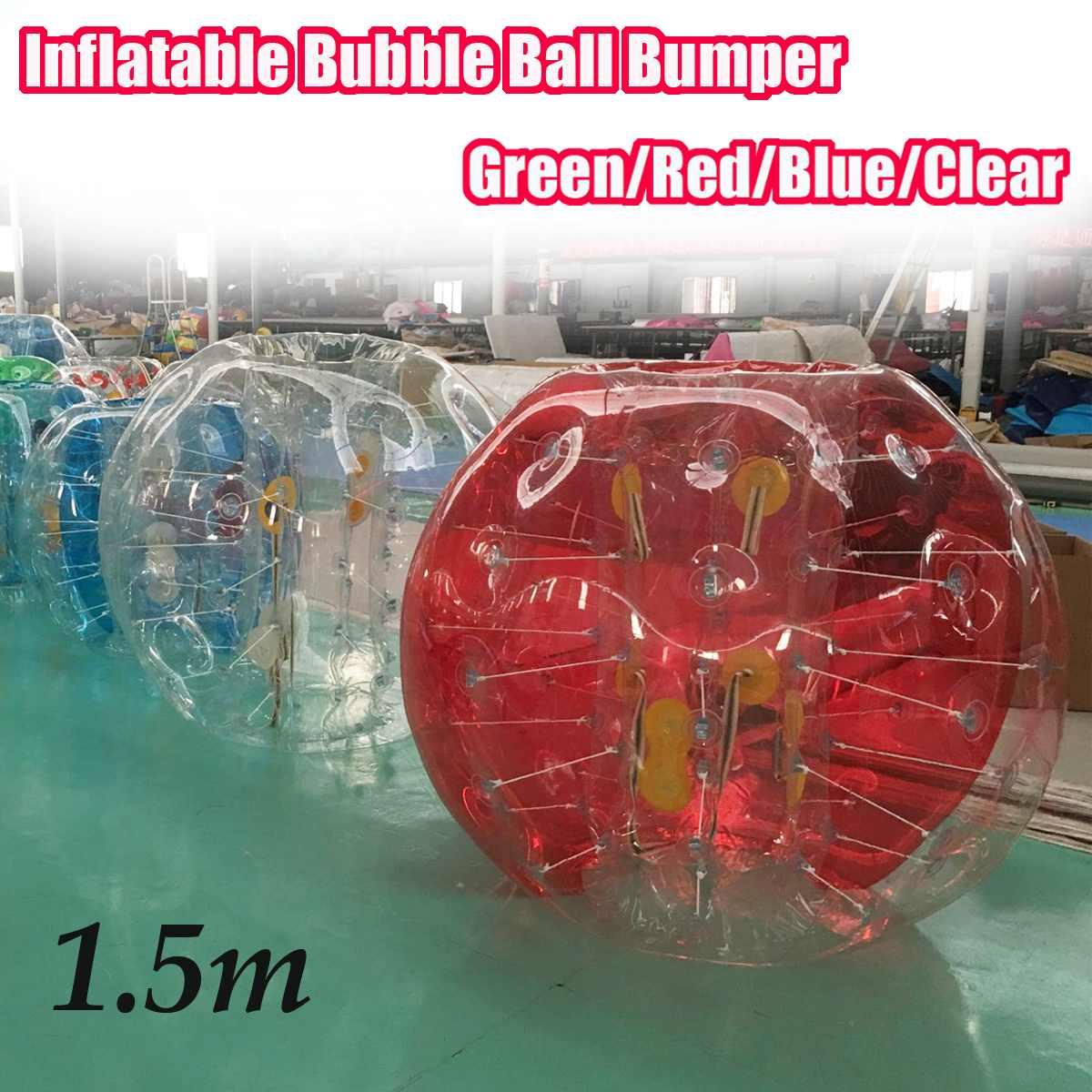 1 pièces 150 cm gonflable bulle balle pare-chocs vert/rouge/bleu/Transparent extérieur enfants enfants adulte jouet