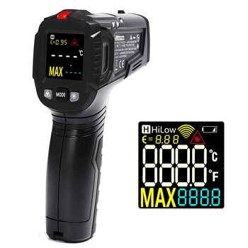 WINAPEX ET6531B / C 2 Tipus de termòmetre digital sense infrarojos sense contacte -Mètric d'humitat -50 ~ 600 graus amb VA de colors per a la fàbrica de cotxes