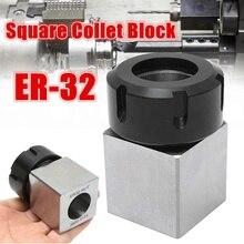 ER 32 suporte quadrado do mandril do bloco do aro 3900 5124 para a máquina de gravura do torno do cnc
