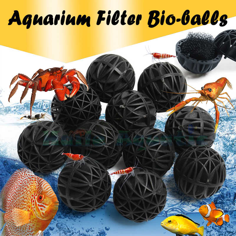 100g Bio-Ballen voor Aquarium Visvijver Filter GRATIS Media Bag 16-76mm