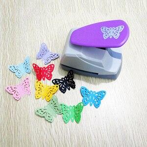 Image 2 - Poinçons de trous papillon à main, grands poinçons en papier, pour poinçons de Scrapbooking, Machine à découper en papier, papeterie de bureau outils de bricolage