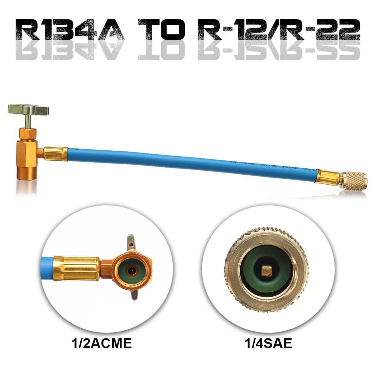 Can Tap R134A To R-12/R-22 System Refrigeration Air Conditioning Fluorine  Tube Refrigerator Hose ~