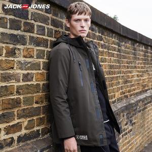 Image 3 - JackJones hommes hiver 3 en 1 à capuche Parka manteau longue veste chaud pardessus de luxe homme vêtements 218309510