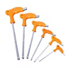 2,5mm 3mm 4mm 5mm 6mm 8mm High carbon Stahl Innere Hexagon Schlüssel Allen hex Taste Ende T Griff Hand Reparatur Werkzeuge