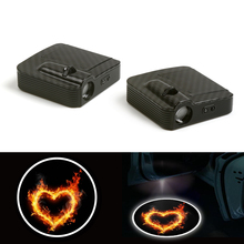 Wireless Fit For Heart Cartoon Courtesy Car Logo Door Ghost Shadow Laser Projector Light 12V
