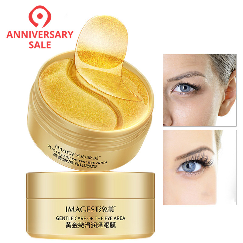 60pcs Gold Eye Mask Anti Wrinkle Crystal Collagen Eye Patches for Eye Care Dark Circles Remove Eye Mask Gel Anti-Aging Skin Care(China)