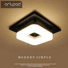 Artpadอเมริกัน 12Wพื้นผิวสแควร์โคมไฟเพดานLedสำหรับห้องโถงPorchระเบียงทางเดินโคมไฟเพดานจีน