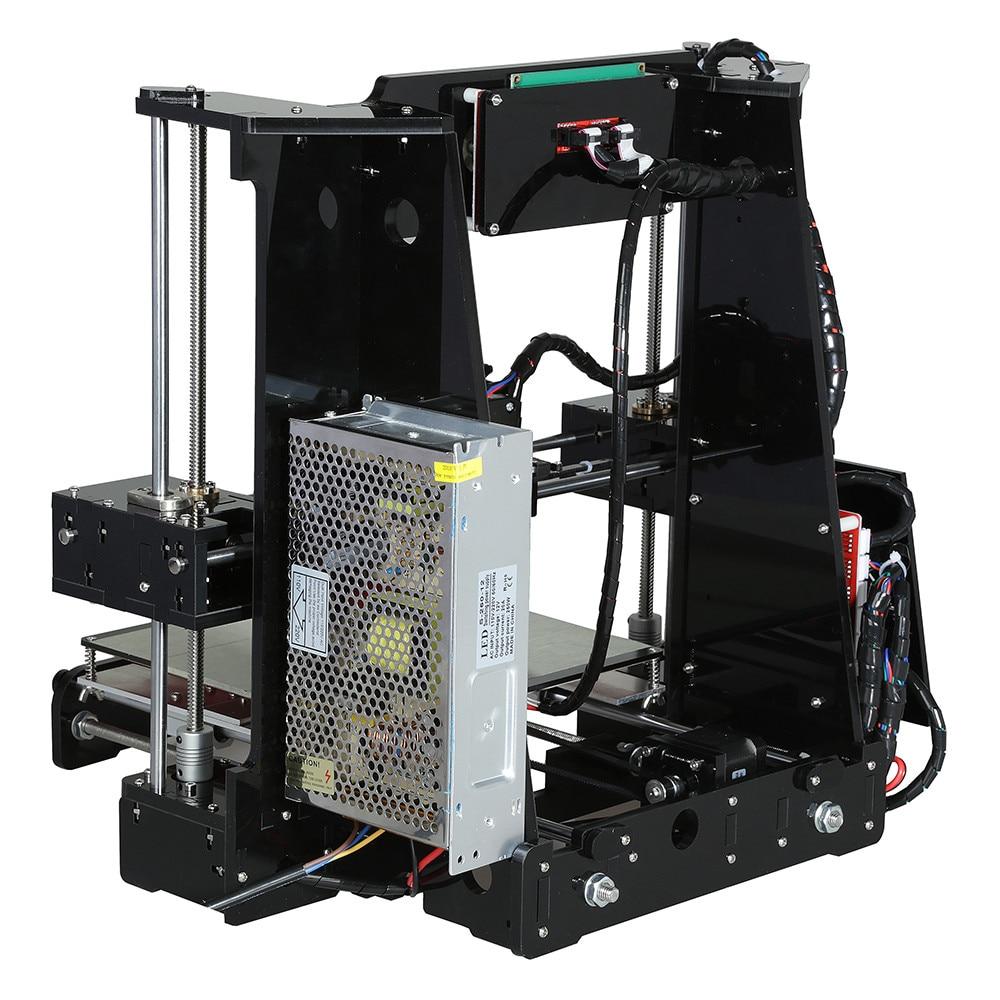 Image 4 - Anet A6 o wysokiej precyzji duży rozmiar pulpitu 3D zestawy do drukarek do samodzielnego montażu ekran LCD z SD o pojemności 16GB drukowanie kart rozmiar 220*220*250mmDrukarki 3D   -