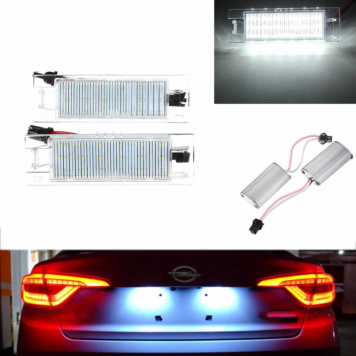 Nouvelle lampe à plaque d'immatriculation 18 éclairage de plaque d'immatriculation LED pour Vauxhall/Opel/Corsa C D pour Astra H J pour Insignia