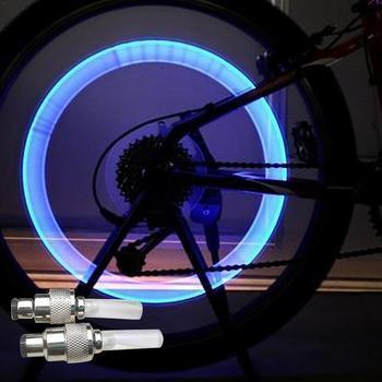 Światła rowerowe z baterii zaworu opony czapki koła szprychy światła Led światła rowerowe Mountain Road światła rowerowe akcesoria rowerowe tanie i dobre opinie HF01992