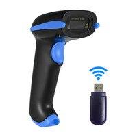 Aibecy 2-в-1 2,4G Беспроводной сканера штриховых кодов и USB проводной сканер штрихкодов автоматический и ручной 1D бар сканер для считывания штрих-...