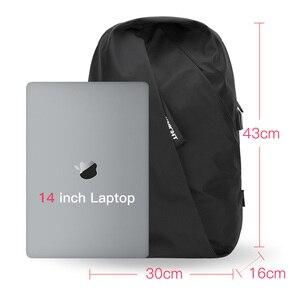 Hk бренд мужской рюкзак модный многофункциональный USB зарядка Мужской 14-дюймовый ноутбук рюкзаки путешествия личности рюкзак для женщин