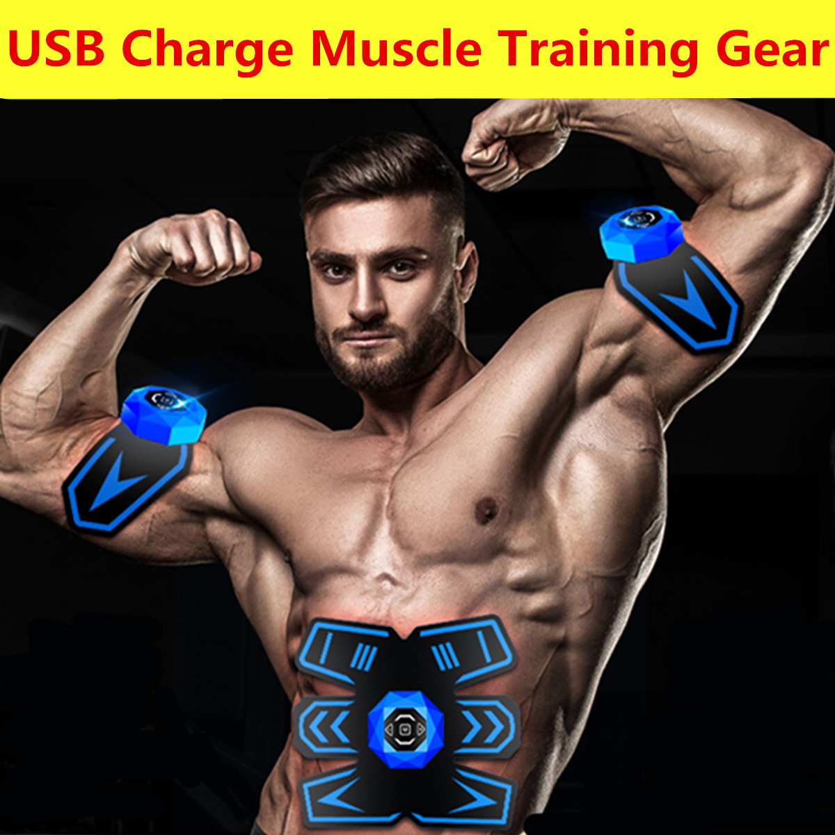 Ab Rollers Fitness & Body Building Smart Fitness Gym Abs Stimulator Muscle Training Gear Toning Belt Home Exercise Fit Pad Ultimate Abs Arm Sports Stickers