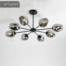 Artpad Moderne Kroonluchter Verlichting Woonkamer Lichten Glas Lampenkap LED Golden Black Vintage Hanglamp Eetkamer Keuken