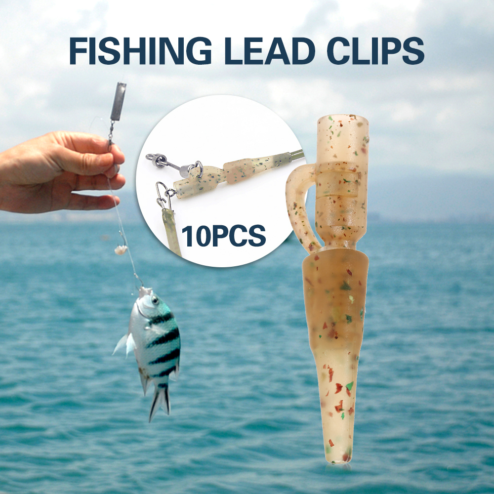 20PCS/lot Safety Lead Clips Set Tail Rubber Tube Quick Change Clips Swivel Snap Connector Carp Fishing Equipment