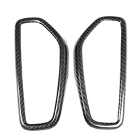 NEW 2Pcs Real Carbon Fiber Car Dashboard Air Conditioning Vent Frame Trim For Porsche Cayenne 2018 2019 Accessories