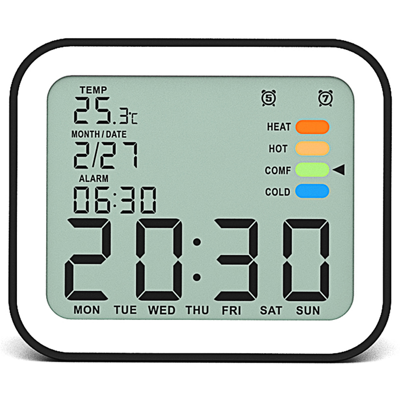 Spirited Lcd Digital Alarm Clocks With Snooze Time Table Alarm Clock With Temperature Calendar Backlight Electronic Desktop Clock To Suit The PeopleS Convenience Office & School Supplies