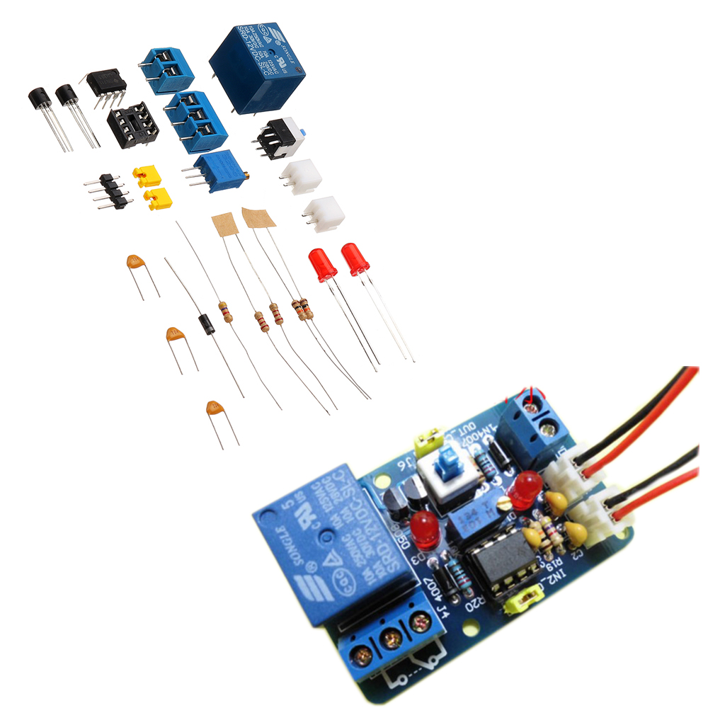 Dc12v Voltage Comparator Module Relay Control Switch 4 Channel Circuits Schematic 1 Set Diy Lm393 Kit With Reverse Protection Indicating Multifunctional 12v