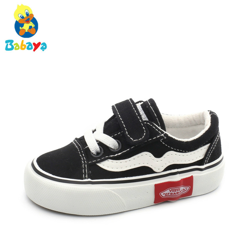 Children Canvas Shoe Baby Shoe 1-3 Old Soft Bottom Catamite Cloth Girl Study Walking  Skate Boy Casual Shoes