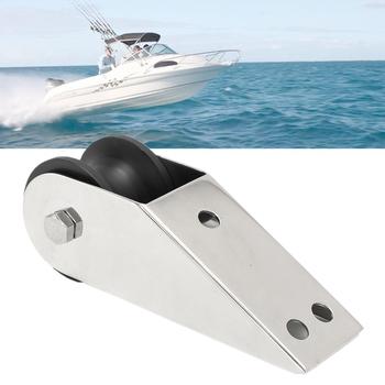 Łódź łuk kotwica rolka gumowa 316 stal nierdzewna do stałej jacht morski dokowanie powierzchni polerowanie spawanie wstępnie wywiercone otwory tanie i dobre opinie Audew 16 5x4 2x5cm 316 Stainless Steel + Rubber Roller