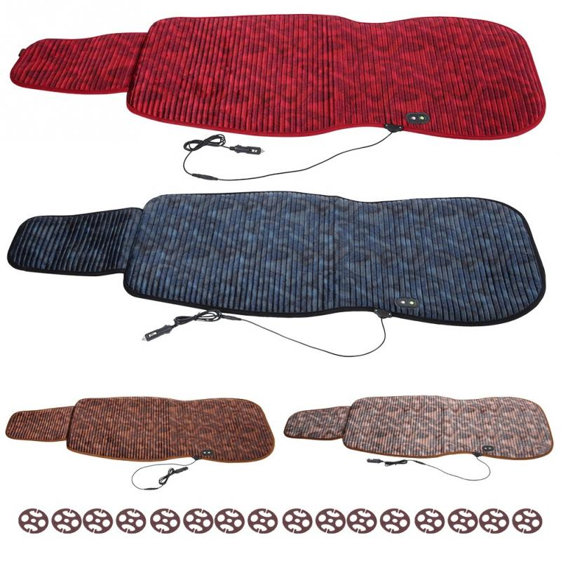 2Pcs 12V 70W Car Seat Heating Pad Warm Cover Heated Cushion Warmer Seat Accessories Universal for