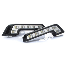 6 LED Car Headlight Daytime Running Light Fog Light Kit Day Light Driv