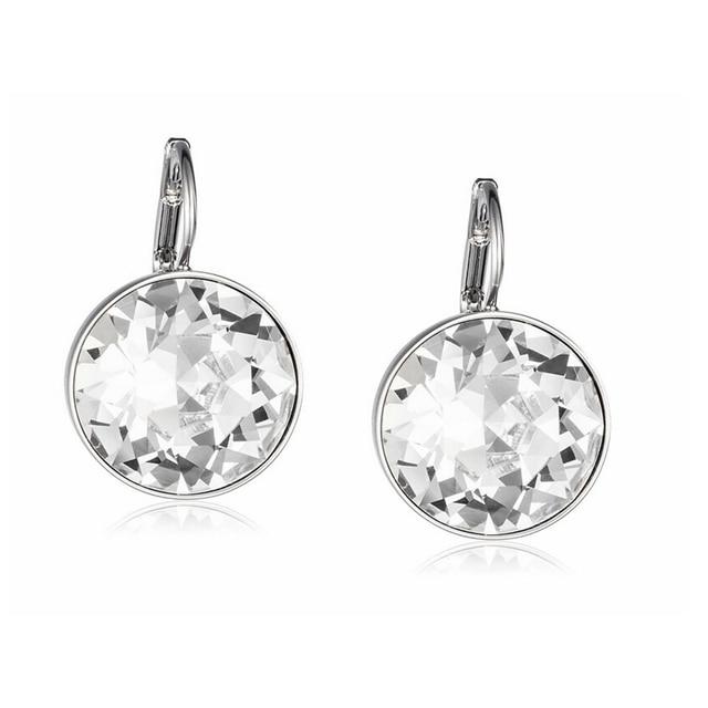 e2036def343 Labekaka Clear Crystal from Swarovski Earrings Bella Pierced Drop Dangle  Earrings For Women