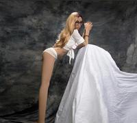 RABBITOW Men Masturbation Real Sex Doll Full Body Size Love Doll with Metal Skeleton