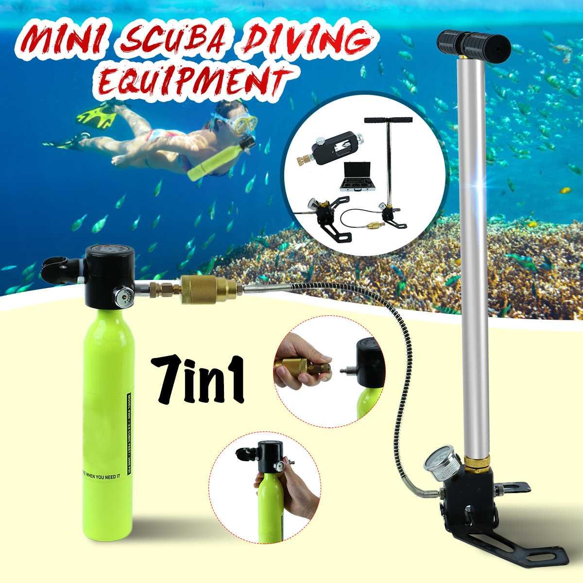 Matériel de plongée Mini Plongée D'oxygène Réservoir D'air cylindre de pompe Régulateur de Vitesse Accessoires Snorkeling Appareil Respiratoire Sous-Marin