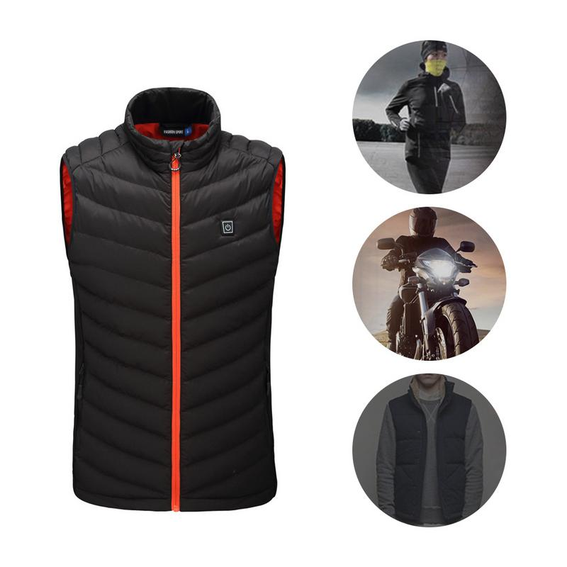 Large Size Autumn Winter Men's Stand Collar Heating Cotton Vest Graphene Electric Vest Adjustable USB Charging Heated Clothing large size autumn and winter men s stand collar heating cotton vest graphene electric vest adjustable usb charging heated cloth