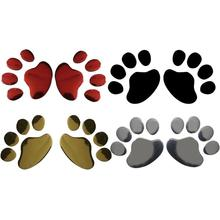 1 Pair Car Stickers Cute Funny Bear Paw Dog Scratch Personality Creative Adhesive Decal Auto Accessories Styling With OPP Bag