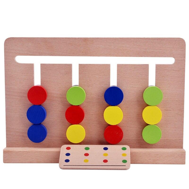 Krachtig Montessori Verlichting Van Kinderen Logic Speelgoed Vroege Onderwijs Leermiddelen Bijpassende Vier Kleur Games Classic Baby Houten Blok