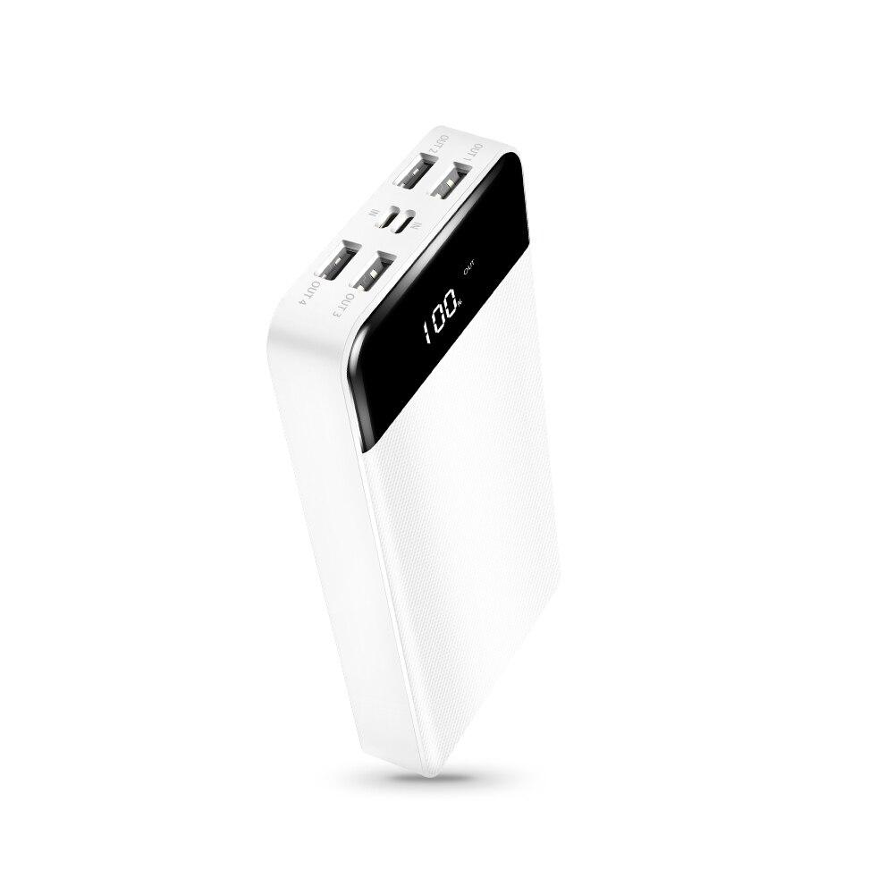 Batterie externe 30000 mah 4USB Type C Powerbank 30000 mah pour Xiaomi chargeur de batterie externe Portable avec affichage LCD batterie de secours