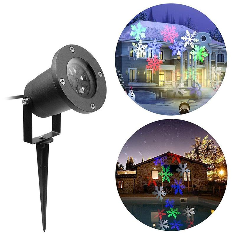 Led Outdoor Garden Snowflake Stage Snow Lights Waterproof Light Christmas Holiday White Color Lighting Party-EU Plug