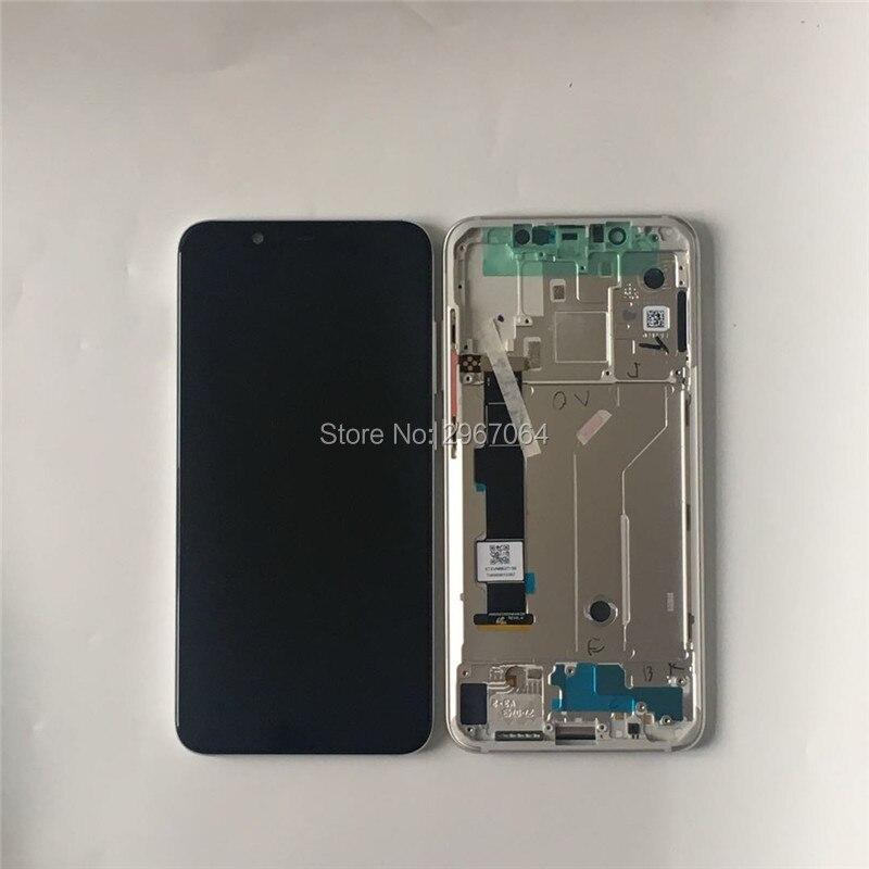 Качество AAA ЖК + рамка ips для Xiao mi 8 Мобильный телефон ЖК s 6,21 дюймов 1080*2248 для mi 8 экран черный цвет с рамкой с комплектами