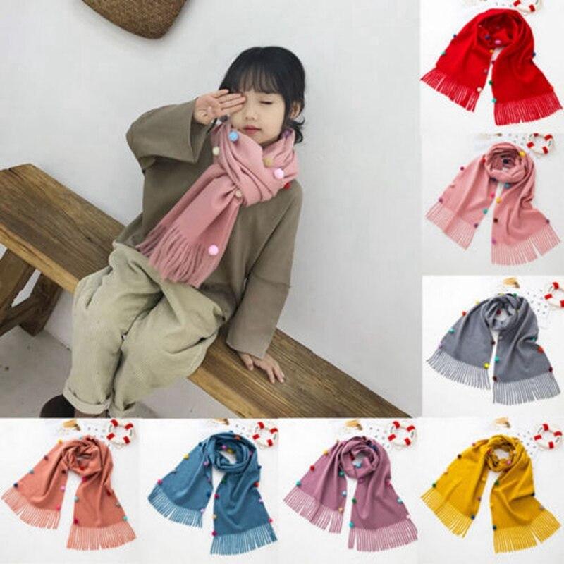 FleißIg Kinder Schal Imitation Kaschmir Herbst Und Winter Kinder Baby Warm Schal
