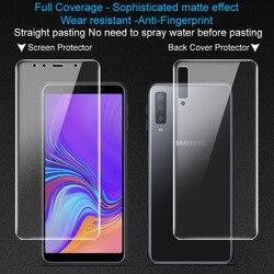 2 sztuk pełne pokrycie dla Samsung Galaxy A7 2018 A750F Screen protector telefon ochraniacz pleców Imak hydrożel matowy matowy gry film