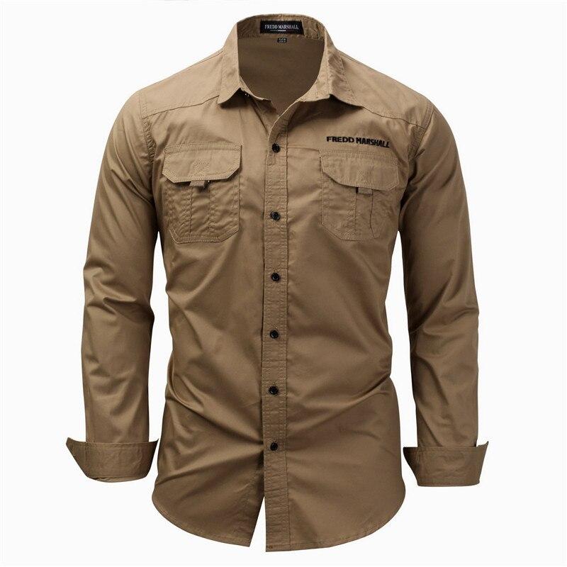 Fashion Men Overshirts Cotton Slim Fit Blue Shirt Long Sleeve Button-down Spring Shirts Camisa A Cuadros Hombre Man Clothes